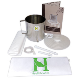 High Grade Stainless Steel Enema Kit (2 Quart) with Medical Grade Silicone Hose.jpg