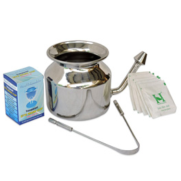 Personal Cleansing Kit - Includes Stainless Steel Neti Pot and Tongue Cleaner with Eyewash Cup.jpg