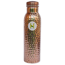 Pure Copper Hammered Bottle for keeping water fresh and cool.jpg