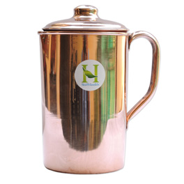 Pure Copper Water Jug Copper Pitcher for Ayurveda Health Benefit.jpg