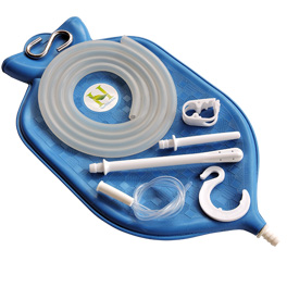 The Perfect Enema Bag Kit in Blue Color for Colon Cleansing With Silicone Hose (2 quart open top).jpg