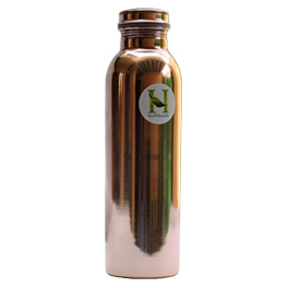 Travellers Pure Copper Water Bottle for Ayurvedic Health Benefits Joint Free Leak Proof.jpg